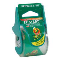 "Duck Brand 393185 EZ Start Packaging Tape w/Dispenser, 1.88"" x 22.2 yd"