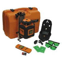 Johnson Level 40-6545 Greenbrite Auto Leveling Rotary Laser Kit