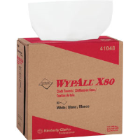 Kimberly Clark 41048 Wypall® X80 Pop-Up Box, White, 5 Pack/80 ea