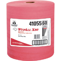 Kimberly Clark 41055 Wypall® X80 Jumbo Roll, Red, 475/Roll