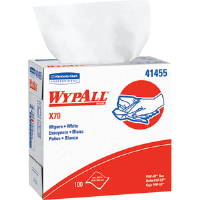 Kimberly Clark 41455 Wypall® X70 Manufactured Rags, Pop-Up Box, White, 10 Boxes/100 ea