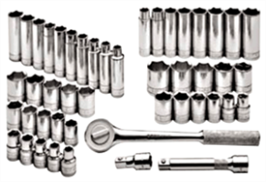SK Hand Tools 4147-6 47 Pc. 6 Point Standard/Deep SAE/Metric Socket Set, 1/2""