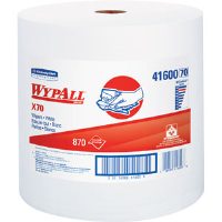 Kimberly Clark 41600 Wypall® X70 Manufactured Rags, Jumbo Roll, White, 870/Roll