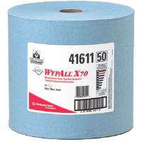 Kimberly Clark 41611 Wypall® X70 Manufactured Rags, Jumbo Roll, Blue, 870/Roll