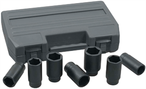 "KD Tools 41650 7 Pc. 6 Point 1/2"" Dr. Metric Axle Nut Socket Set"