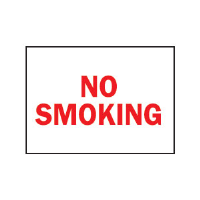 "Brady 42695 ""No Smoking"" Sign, 10"" x 14"", Aluminum, B-555"