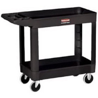 Rubbermaid 4500-88 2-Shelf Utility Cart w/ Lipped Shelf
