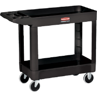 Rubbermaid 450088 Utility Cart, 2 Shelf, 500lb. Black