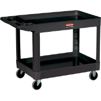 Rubbermaid 452088 Utility Cart, 2 Shelf, 500lb. Black