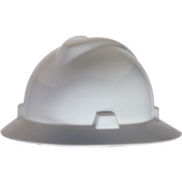 MSA 454733 V-Gard® Non-Slotted Hat w/Staz-On, White