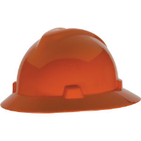 MSA 454734 V-Gard® Non-Slotted Hat w/Staz-On, Orange