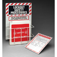 Brady 45635 Prinzing Lockout Procedure Station With Binder & 25 Forms