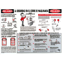 Brady 45638 Spanish Lockout Safety Poster
