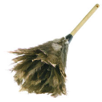 Premium Ostrich Feather Duster w/ Wood Handle, 24""
