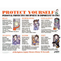 Brady 45852 Personal Protective Equipment Use Poster