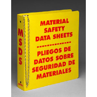 "Brady 46072 1-1/2"" Ring MSDS Binder, Bilingual"