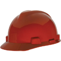 MSA 463947 V-Gard® Standard Cap w/Staz-On, Red