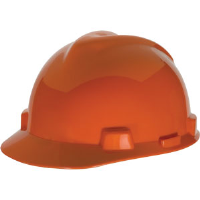 MSA 475361 V-Gard® Slotted Cap w/Fas-Trac®, Orange