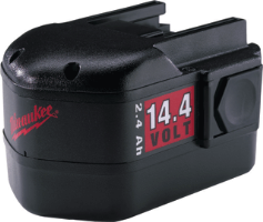 Milwaukee 48-11-1024 14.4 Volt Replacement Battery, 2.4 A