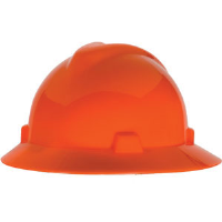 MSA 489360 V-Gard® Non-Slotted Hat w/Staz-On, Hi-Viz Orange