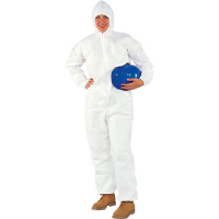 Kimberly Clark 49112 A20 Coveralls w/ Zip,Elastic Back/Wrists/Ankles/Hood, M, 24/Cs.