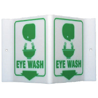 "Brady 49371 ""Eye Wash"" Sign, 6""H x 9""W x 4""D, Acrylic"