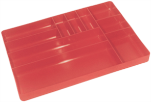 Ernst 5010 10 Compartment Organizer Tray, Red
