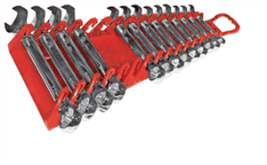Ernst 5188 15 Pc. Reverse Gripper Wrench Rack, Red