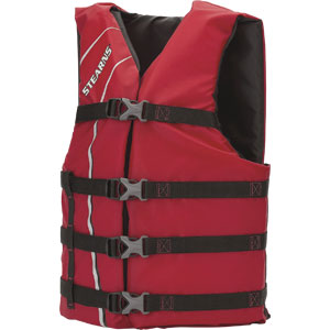 Stearns 5311OSRD Stearns Classic™ Life Preserver Vest, Adult, Red