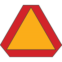 Brady 57893 Slow Moving Vehicle Sign