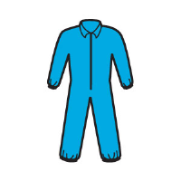 Kimberly Clark 58502 A20 Coveralls - Zip,Elast. Back/Wrists/Ankles,Blue,M,24/Cs.