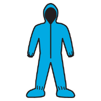 Kimberly Clark 58523 A20 Coveralls - Zip,Elast.Back/Wrist/Ankle/Hood/Boot,Blue,L,24/Cs.