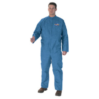 Kimberly Clark 58533 KleenGuard® A20 Coveralls w/ Zip, Blue, L, 24/Cs.