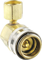 FJC Inc. 6005 90° R134a Quick Coupler - High Side