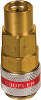 FJC Inc. 6007 Straight R134a Quick Coupler - High Side