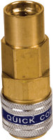 FJC Inc. 6008 Straight R134a Quick Coupler - Low Side
