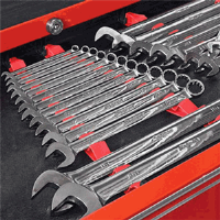 "Ernst 6050 30 Pc. ""No Slip"" Low Profile Wrench Rail Set"