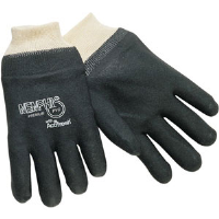 MCR Safety 6100S Memphis™ Premium Black PVC Gloves,DD Knit,(Dz.)