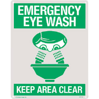 """Emergency Eye Wash"" Rigid Plastic Sign"
