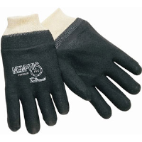 "MCR Safety 6212 Single Dipped Black PVC Gloves, 12"" Smooth,(Dz.)"