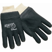 "MCR Safety 6212R Single Dipped Black PVC Gloves, 12"" Rough,(Dz.)"