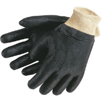 MCR Safety 6500S Double Dipped PVC Textured Gloves, Knit,(Dz.)