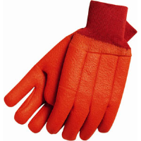 MCR Safety 6700F Double Dipped PVC Gloves,Orange,(Dz.)