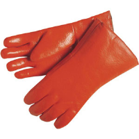 MCR Safety 6712F Fluorescent Orange PVC, Single Dipped Gloves,(Dz.)