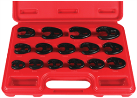 Astro Pneumatic 7115 15 Pc. Professional Metric Crowfoot Wrench Set
