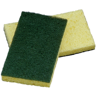 Impact Products 7130P Cellulose General-Duty Scrubber Sponges, 5/Cs.