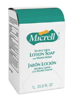 Gojo 7188-10 Micrell Antibacterial Lotion Soap, 1000 mL, 10/Cs.