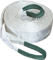 "K Tool International 73813 Tow Strap 4"" x 30' 40,000 lb Capacity - Looped Ends"