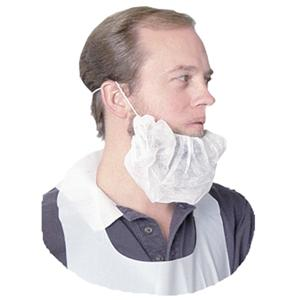 Impact 7388 Beard Safety Covers, White, 100/Bag
