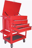 K Tool International 75140 4 Drawer Heavy Duty Service Utility Cart - Red
